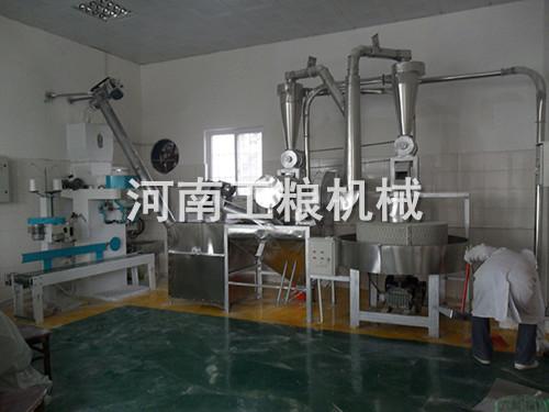 卧式100型自动上料石磨面粉机
