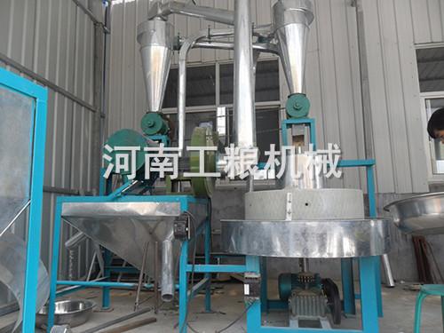 80型电动石磨面粉机