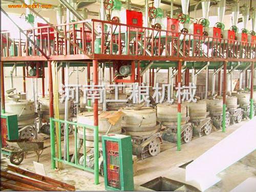 日处理50吨小麦石磨面粉加工设备