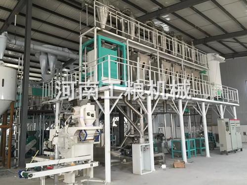 新乡50吨玉米加工设备安装案例