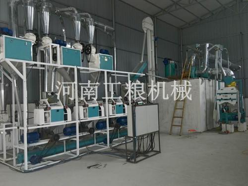 甘肃平凉4组面粉机安装案例