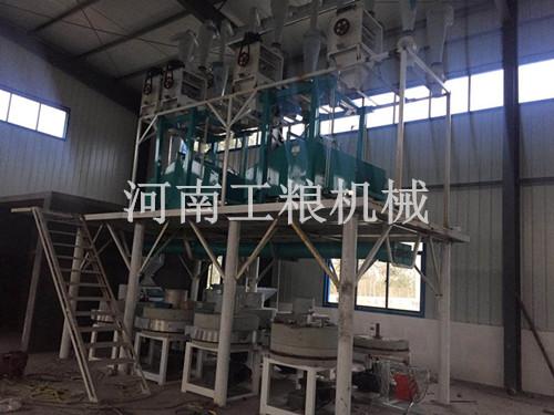 陕西榆林20吨石磨面粉机安装案例