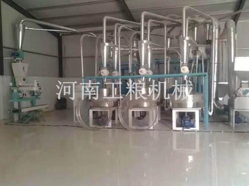 内蒙古6组石磨面粉机安装案例