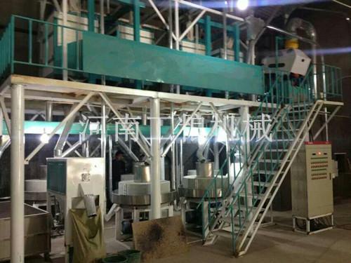 河南南阳20吨级石磨面粉机安装案例