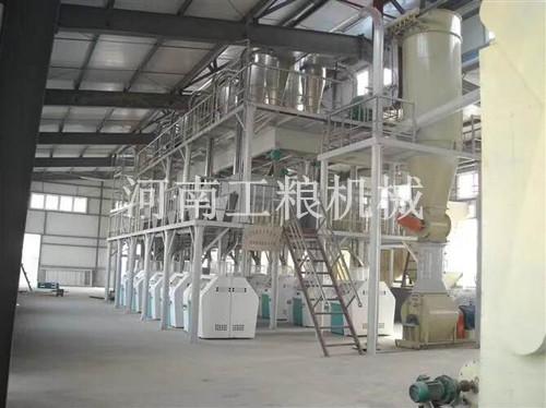 新疆阿克苏100吨级面粉机械安装案例
